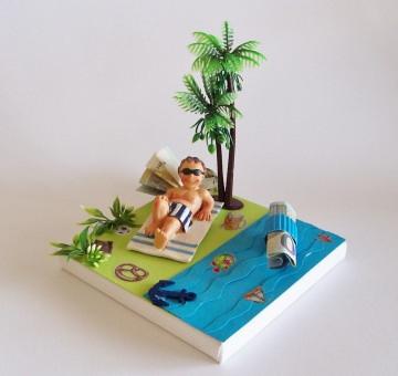 Geldgeschenk Geburtstag, Männer, Urlaubskasse,Urlaub,Geschenk Verpackung