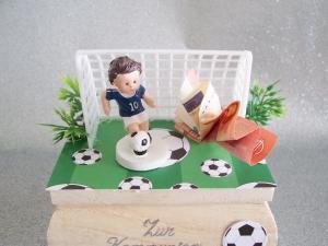 Geldgeschenk zum Geburtstag, zur Kommunion,Fußballspieler Fußball