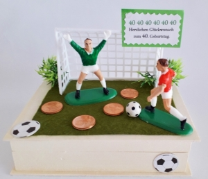 Geldgeschenk Geschenkgutschein Geburtstag Männer Fußball Geschenkbox
