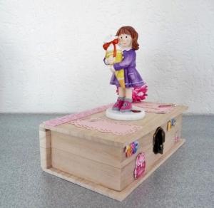 Geldgeschenke zur Einschulung Mädchen mit Schultüte Geschenkbox Buchform Vornamen