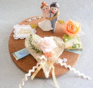 Hochzeit Geldgeschenke Brautpaar im Ring Herz Hochzeitsgeschenk - Handarbeit kaufen