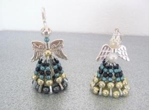 Perlenengel Schutzengel Anhänger,2 Stück,Gastgeschenk Geburtstag Weihnachten Mitbringsel