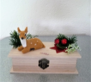 Geschenkverpackung Geldgeschenk zu Weihnachten Geschenkbox mit Verschluss