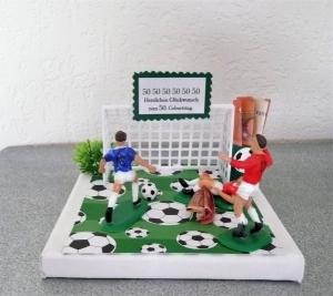 Geldgeschenke Geschenk Verpackung für den Fußballfan, zum Geburtstag, zu Weihnachten Geschenkgutschein
