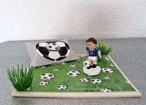 Geldgeschenke für Fußballer Kommunion/Konfirmation Junge blau-weiß Geschenk Verpackung