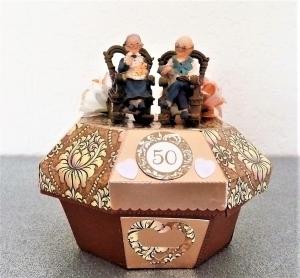Geldgeschenke zur goldenen Hochzeit Goldhochzeit Jubiläum 50 Geschenk Box Verpackung