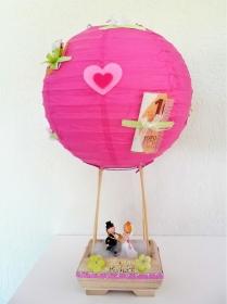 Geldgeschenk Ballon zur Hochzeit mit Brautpaar Flitterwochen - Handarbeit kaufen