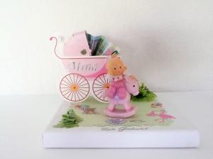 Geldgeschenke Geburt Taufe Mädchen Figur Baby rosa Geschenk Verpackung  - Handarbeit kaufen