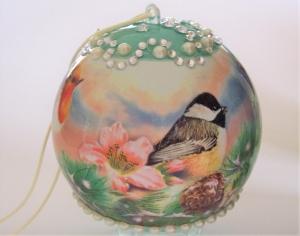 Fenster Dekoration Kugel Acryl mit Vögel zum Aufhängen Geschenk - Handarbeit kaufen