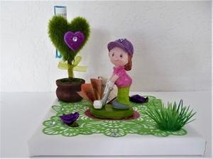 Geldgeschenk Geburtstag Sport Golf Mädchen Frau Herz Baum Geschenkverpackung - Handarbeit kaufen