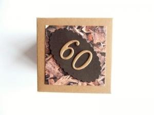 Überraschungsbox Geldgeschenk zum  60. Geburtstag Geschenk Verpackung Männer - Handarbeit kaufen