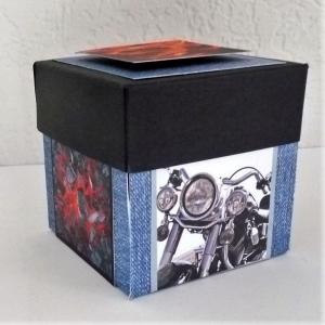Überraschungsbox Geldgeschenk Geburtstag Geschenk Box Motorradliebhaber - Handarbeit kaufen