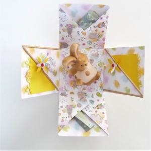 Ostern Geldgeschenk Geschenkbox Überraschungsbox Osterhase Verpackung  - Handarbeit kaufen