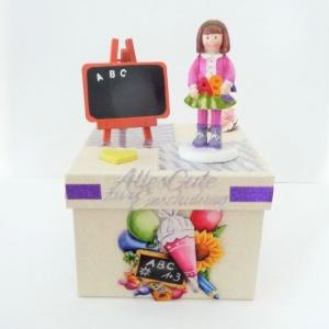 Geldgeschenk Gutschein Einschulung Schulanfang Mädchen Geschenkbox
