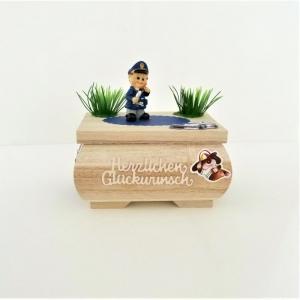 Geldgeschenk Geburtstag Prüfung Abschluss Polizei Geschenkkästchen Holz Box - Handarbeit kaufen