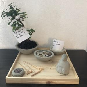 Zen Garten - Tisch Zen Garten - Feng Shui - Buddha - Bonsai - handgefertigt