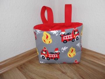 Lenkertasche Feuerwehr grau rot weiß Utensilo Hängeutensilo
