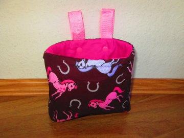 Lenkertasche Pferd rosa lila braun pink Utensilo Hängeutensilo