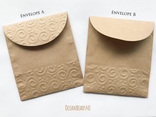 Handgemachtes 10 Papiertüten E  (11 x 12.5 cm), Handgemachtes 10 Geschenkverpackung, Packpapiertüte braun ungefädelt