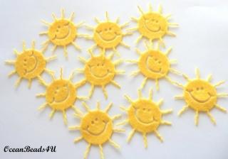10 Filz Sonne, 10 Filz Sonne Applikation, Sonne formen