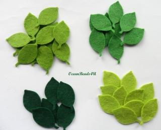 48 Filz Grün Blätter G, Filz Applikation, Filz Formen
