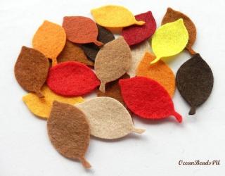 40 Herbst Filz Blätter G, Filz Applikation, Filz Formen