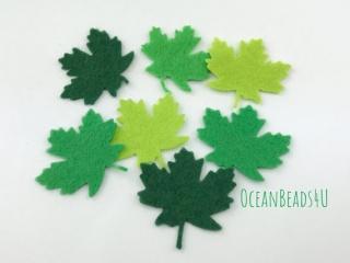 36 Filzgrün Blätter D (4 Farben),  Filz Applikation, Filz Formen