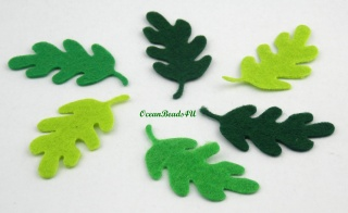 32 Filz Grün Blätter N,  Filz Applikation, Filz Formen