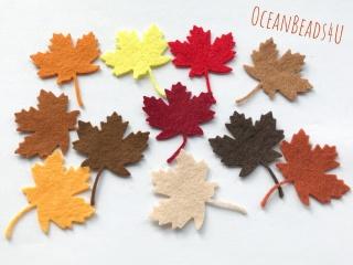 33 Mix Herbst Filz Blätter D,  Filz Applikation, Filz Formen