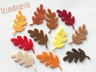 22 Filz Herbst Blätter N,  Filz Applikation, Filz Formen