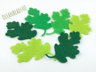32 Filz Grün Blätter L,  Filz Applikation, Filz Formen