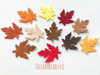 36 Herbst Filz Blätter M,  Filz Applikation, Filz Formen