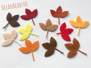 Herbst Filz Blätter K,  Filz Applikation, Filz Formen
