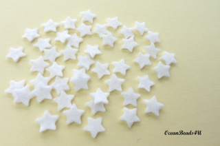 100 Mini Weiß Filz Stern (1 cm), Kleine Sterne, Filz Formen