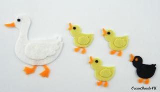 Filz-Enten, Filz-Mutter-Ente und Entlein formen, Filz Tiere, Oestern Tiere, Filz Formen