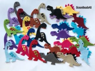 Fühlte Dinosaurier (freie Farbe), prähistorische Tiere Filz, Jurassic fühlte Tiere Formen, Filz sterben schneidet