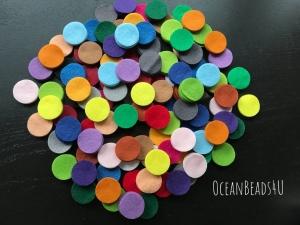 96 Filzkreise (6 cm), Filz formen, Filz Applikation