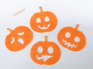 Kürbis Filzform für Halloween, Kürbis filz applikation