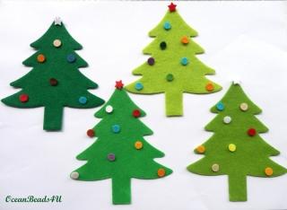 8 Filz  Weihnachtsbaum (11,5 x 10cm),  Weihnachtsbaum Applikation
