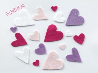 50 rosa weiss violett Filzherzen , Herzen Konfetti, Herzen Applikation