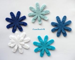 20 Filzblumenform (2 Größe), Blumen filz Form, Blumen applikation