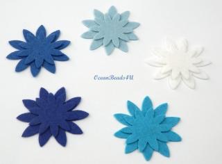 20 Filzblumen , Blumen filz Form, Blumen applikation