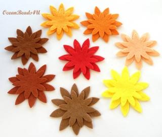 32 Filzblumen , Blumen filz Form, Blumen applikation
