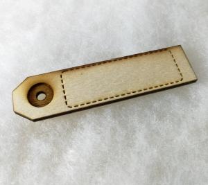Anhänger Holz Koffer gelasert ♡ Name ♡ Adresse ♡ zum bekleben ♡ bemalen ♡ gestalten