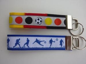 2er Set Schlüsselanhänger Deutschland + Fußballer