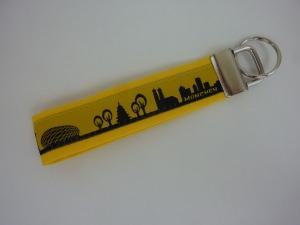 Schlüsselanhänger München in gelb/schwarz