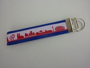 Schlüsselanhänger München in blau/rot/weiß