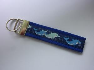 Schlüsselanhänger Delfin in blau