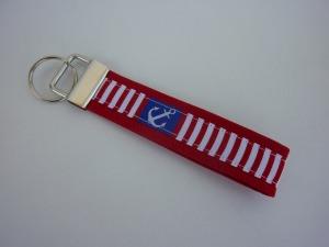 Schlüsselanhänger Anker rot/weiß/blau