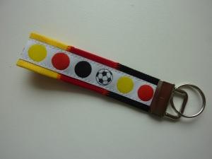 Schlüsselanhänger Deutschland schwarzrotgold mit weiß